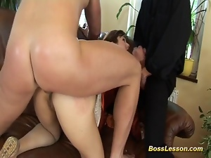 Boytoy in threeway with boss