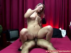 Real dutch prostitute riding hard dick