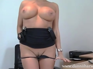 Busty office babe wants taking hard over her desk
