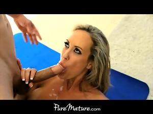 PureMature Big-titted MILF seduces her yoga teacher