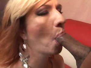 Cock loving MILF Brittany Blaze takes it black