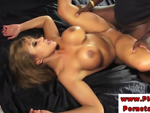 Ava Devine in mmf threeway fucked while sucking