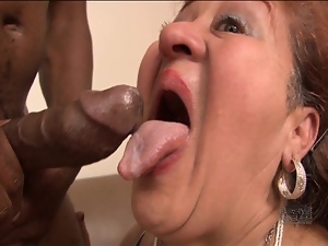 Grandma is gagging for black cock