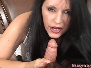 Foxy Anya Blows Cock Cum Shot On Hair