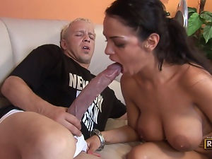 Enormous cocks infiltrate Angelina Valentine