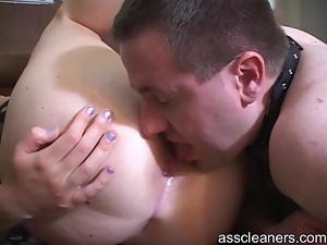 Rimming a sweet little female ass
