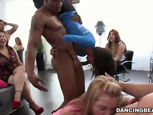 Blowjob Galore At The Hair Salon Dick Party