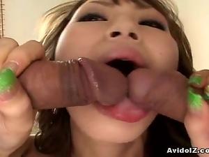 Horny japanese babe deeply fucked uncensored