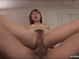 Fucked Japanese cunt squirts passionately