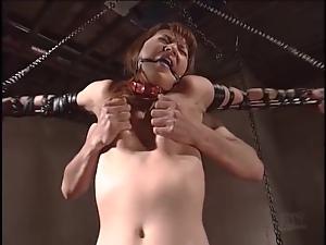 Kinky Japanese bondage video with nip pulling