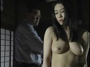 Cute girl stripped and tied up by master