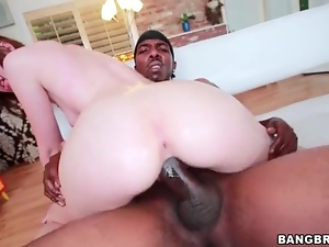 Slim chick with big ass loves big black cock