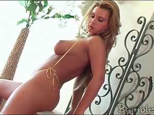 Sensual Dorothy Black in solo striptease video