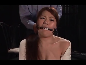 Sweet girl gagged and dominated in jail