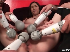 Many vibrators pleasure this Japanese girl