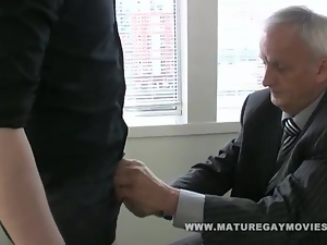 Boss Daddy Gets Fucked By Red Head In The Office