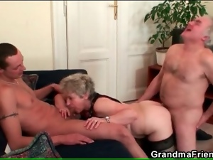 Husband and wife fuck young guy in threesome