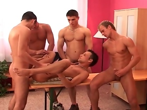 Gay gangbang and straight 69 in hot porn