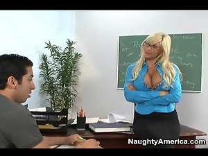Seductive teacher Puma Swede blows student