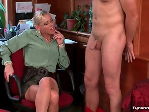 His cock and balls are tied up by mistress