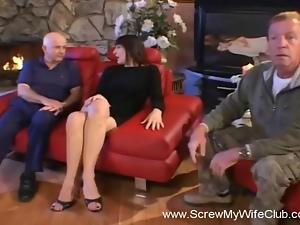 Hubby No Likey His Wife Fucking a Stranger
