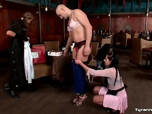 Man dressed up as a satin sissy