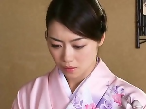 Submissive Japanese beauty fondled roughly