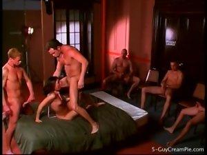 Skinny Ashley Blue fucked in great gangbang porn
