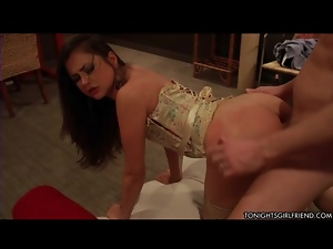Sexy corset on Allie Haze the doggystyle slut