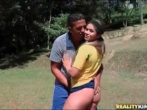 Brazilian teases her big ass on soccer field