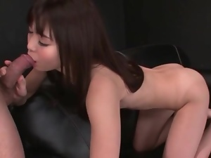 Big load in the mouth of Japanese cocksucker