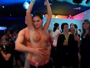 Blowjobs and hot sex spice up a club party