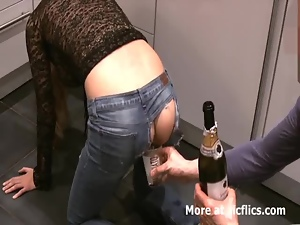 Fisting my girlfriends monster gaping asshole