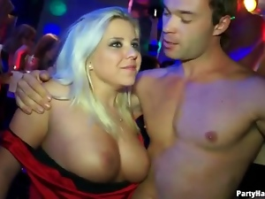 Girls get horny watching guys dance at party