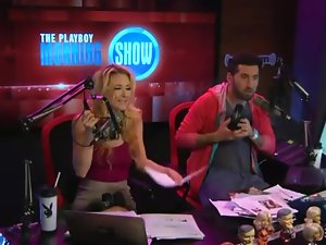 Babes on radio show get increasingly naked