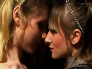 Babes in the basement have erotic lesbian sex