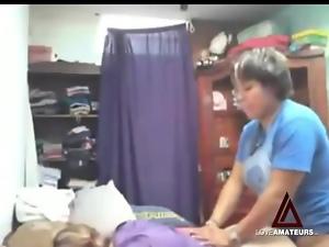 Curvy lesbians make a good strapon fuck video