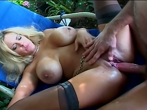 Blonde milf with huge melons screwed viciously