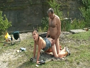 Old fisherman wants young pussy