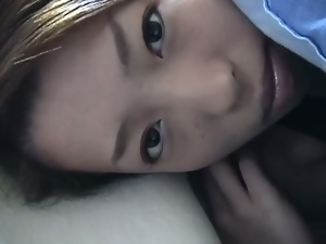 Innocent asian cutie pov blowjob