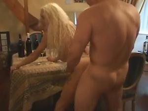 Hot blonde mature drilled hard