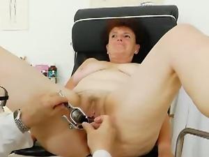 Examine old pussy of chubby granny marsa