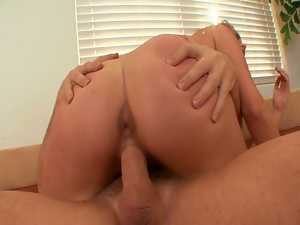 Horny secretary allie haze gets banged by her boss