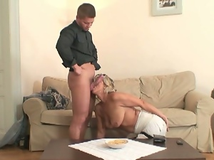 Busty mom needs her son in law's cock