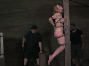 Booming big titted darling rough sex and bondage