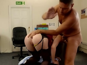 Drilling in the secretary's ass hole