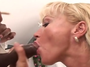 Blonde mom fucked in the ass by black man