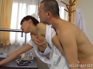 Hot sex with the horny Asian nurse Hisae Yabe