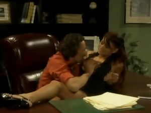 Sexy brunette Eva Angelina gives head and gets her pussy smashed