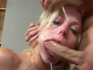 Slim Angela Stone gets face fucked in a rough manner